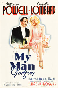 "My Man Godfrey (Universal, 1936). One Sheet (27"" X 41"") Style C"