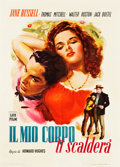 "Movie Posters:Western, The Outlaw (LUX, 1949). Italian 2 - Foglio (39.25"" X 55"").. ..."