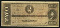 Confederate Notes:Group Lots, T70 $2 1864 Facsimile Advertising Note.. ...