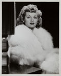 Miscellaneous Collectibles:General, 1941 Lucille Ball Original News Photograph by Ernest A. Bachrach,PSA/DNA Type 1....