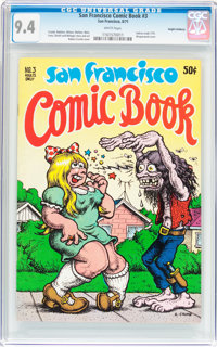 San Francisco Comic Book #3 Haight-Ashbury pedigree (Print Mint, 1970) CGC NM 9.4 White pages