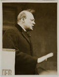 Miscellaneous Collectibles:General, 1924 Winston Churchill Original News Photograph, PSA/DNA Type 1....