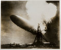 Miscellaneous Collectibles:General, 1937 The Hindenburg Disaster Original News Photograph, PSA/DNA Type I....