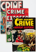 Golden Age (1938-1955):Crime, Golden Age Crime Group of 3 (Various Publishers, 1950s) Condition: Average GD/VG.... (Total: 3 Comic Books)