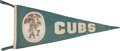 Baseball Collectibles:Others, 1919-15 Roger Bresnahan Chicago Cubs Large Pennant. ...