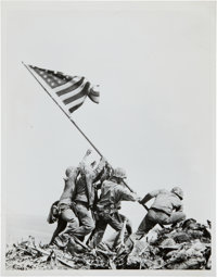 1945 Flag Raising at Iwo Jima, Iconic Pulitzer Prize-Winning Original News Photograph by Joe Rosenthal, PSA/DNA Type I.&...