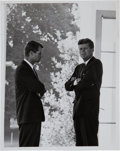Miscellaneous Collectibles:General, 1962 President John F. Kennedy & Robert Kennedy Cuban MissileCrisis Original News Photograph, PSA/DNA Type 1....