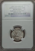Lithuania, Lithuania: Sigismund III 3 Groschen 1597 AU Details (SurfaceHairlines) NGC,...