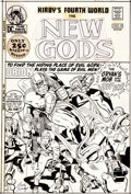 Original Comic Art:Covers, Jack Kirby and Vince Colletta New Gods #4 Cover Original Art (DC, 1971)....