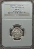 Lithuania, Lithuania: Sigismund August 1/2 Groschen 1560 AU58 NGC,...