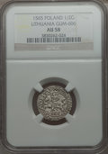 Lithuania, Lithuania: Sigismund August 1/2 Groschen 1565 AU58 NGC,...
