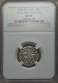 Lithuania, Lithuania: Sigismund August 1/2 Groschen 1556 AU58 NGC,...