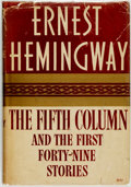 Books:Literature 1900-up, Ernest Hemingway. The Fifth Column and the First Forty-NineStories. New York: Charles Scribner's Sons, 1938. First ...