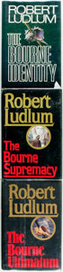 Books:Mystery & Detective Fiction, Robert Ludlum. SIGNED. The Bourne Identity [together with:]The Bourne Supremacy [and:] The Bourne U... (Total: 3Items)