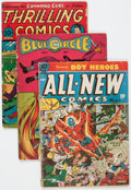 Golden Age (1938-1955):Miscellaneous, Golden Age Miscellaneous Comics Group of 3 (Various Publishers, 1940s).... (Total: 3 Comic Books)