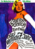 "Movie Posters:Comedy, The Seven Year Itch (20th Century Fox, R-1966). German A1 (23.25"" X33"").. ..."