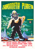 """Movie Posters:Science Fiction, Forbidden Planet (MGM, 1956). Yugoslavian Poster (19.5"""" X 27.25"""").. ..."""