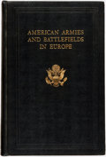Books:Americana & American History, American Battle Monuments Commission. American Armies and Battlefields in Europe. United States: Government Printing...