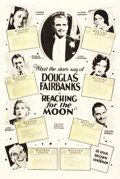 "Movie Posters:Comedy, Reaching for the Moon (United Artists, 1930). One Sheet (28"" X 42"").. ..."