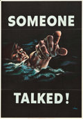 "Movie Posters:War, World War II Lot (U.S. Government Printing Office, 1942). OWIPoster (28"" X 40"") ""Someone Talked!"". ..."