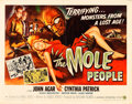 "Movie Posters:Science Fiction, The Mole People (Universal International, 1956). Half Sheet (22"" X28"") Style B.. ..."