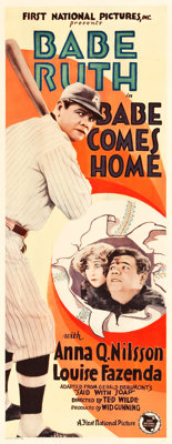 "Babe Comes Home (First National, 1927). Insert (14"" X 36"")"