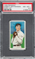 Baseball Cards:Singles (Pre-1930), 1909-11 T206 Piedmont Christy Mathewson Dark Cap PSA NM-MT+ 8.5....