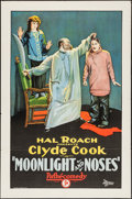 "Movie Posters:Comedy, Moonlight and Noses (Pathé, 1925). One Sheet (27"" X 41""). Comedy....."
