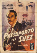 "Movie Posters:Crime, Passport to Suez (Columbia, 1947). First Post War Release Italian 4 - Foglio (55"" X 77.75""). Crime.. ..."