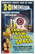 "Movie Posters:Science Fiction, It Came From Outer Space (Universal, 1953). One Sheet (27"" X 41"")3-D Style. ..."