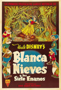 "Movie Posters:Animated, Snow White and the Seven Dwarfs (RKO, 1937). Argentinean Poster(29"" X 43""). ..."