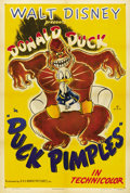 "Movie Posters:Animated, Duck Pimples (RKO, 1945). One Sheet (27"" X 41""). ..."
