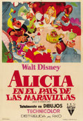 "Movie Posters:Animated, Alice in Wonderland (RKO, 1951). Argentinean Poster (29"" X 43"")...."