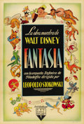 "Movie Posters:Animated, Fantasia (RKO, 1940). Argentinean Poster (29"" X 43""). ..."