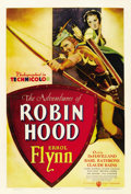 "Movie Posters:Adventure, The Adventures of Robin Hood (Warner Brothers, 1938). One Sheet(27"" X 41"").. ..."