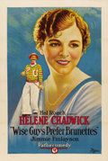 """Movie Posters:Comedy, Wise Guys Prefer Brunettes (Pathe', 1926). One Sheet (27"""" X 41"""")...."""
