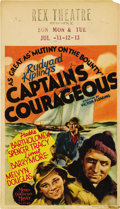 "Movie Posters:Adventure, Captains Courageous (MGM, 1937). Midget Window Card (8"" X 14""). ..."