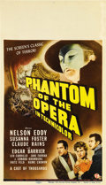 "Movie Posters:Horror, Phantom of the Opera (Universal, 1943). Midget Window Card (8"" X14""). ..."
