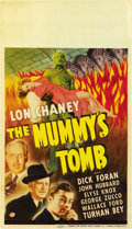 "Movie Posters:Horror, The Mummy's Tomb (Universal, 1942). Midget Window Card (8"" X 14""). ..."