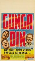 "Movie Posters:Action, Gunga Din (RKO, 1939). Midget Window Card (8"" X 14""). ..."