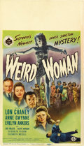 "Movie Posters:Mystery, Weird Woman (Universal, 1944). Midget Window Card (8"" X 14""). ..."