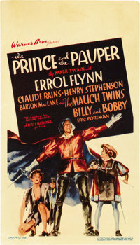 """The Prince and the Pauper (Warner Brothers, 1937). Midget Window Card (8"""" X 14"""")"""
