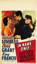 "Movie Posters:Romance, In Name Only (RKO, 1939). Midget Window Card (8"" X 14""). ..."