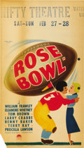 "Movie Posters:Comedy, Rose Bowl (Paramount, 1936). Midget Window Card (8"" X 14""). ..."