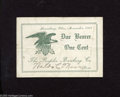 Obsoletes By State:Ohio, Lewisburg, OH - The Peoples Banking Co. 1¢ Nov. 1917. A nice pieceof scrip from the midwest. Neither Wolka or Haxby list th...