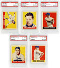 Baseball Cards:Lots, 1948-49 Leaf SP PSA-Graded Collection (5). The five cards that arepresented, all come from the ever so difficult Short Prin...