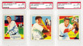 Baseball Cards:Lots, 1935 Diamond Stars PSA-Graded NM-MT 8 Collection (3). This trio of 1935 Diamond Star baseball cards has the typical light br...