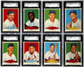 Baseball Cards:Sets, 1954 Red Heart Baseball High Grade Complete Set (33). Offered is acomplete set of the 1954 Red Heart Baseball issue. This i...