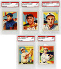 Baseball Cards:Lots, 1934-36 Diamond Stars PSA-Graded NM 7 Collection (5). An extremely well preserved quintet of Diamond Stars that includes two...