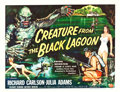 "Movie Posters:Horror, Creature from the Black Lagoon (Universal International, 1954).Half Sheet (22"" X 28"") Style B.. ..."